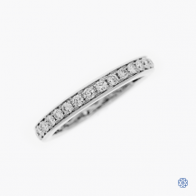 18k white gold 0.62ctw diamond eternity wedding band