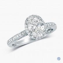 Tacori 18k White Gold 1.08ct Lab Created Diamond Dantela Engagement Ring