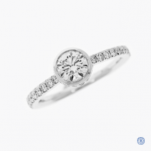 18k white gold Hearts on Fire 0.57ct diamond engagement ring