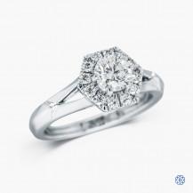Hearts on Fire platinum 0.64ct diamond Engagement ring