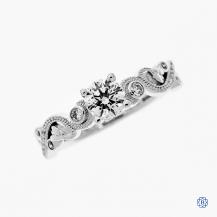 18kt White Gold 0.51ct Maple Leaf Diamonds Engagement Ring