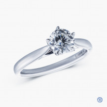 18kt white gold 0.71ct Maple Leaf Diamond Engagement Ring