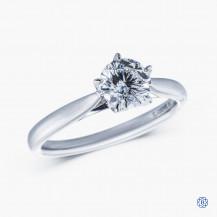 18kt white gold 0.71ct Maple Leaf Diamond Engagement Ring