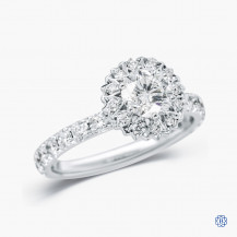 18kt White Gold 0.74ct Maple Leaf Diamonds Engagement Ring