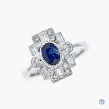 18K White Gold 1.25ct Blue Sapphire Katrina Ring