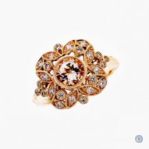 14K Rose Gold 0.68 Morganite Georgina Ring