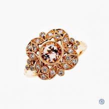 14K Rose Gold 0.68 Morganite Georgina Ring