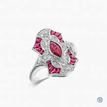 18k white gold 1.18ct ruby and diamond ring