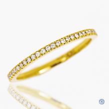 Hearts on Fire 18k yellow gold diamond eternity band