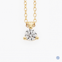 Hearts on Fire 18k rose gold 0.26ct diamond pendant and chain
