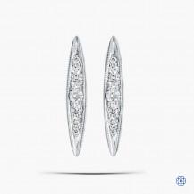 Tacori 18K925 Pavé Surfboard Stud 0.14ct Diamond Earring