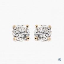 14k yellow gold 0.64ct diamond stud earrings