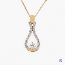I Am Canadian 10kt yellow gold diamond pendant with chain