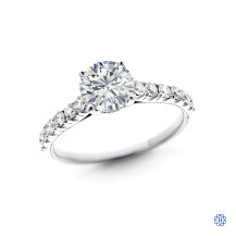 Simon G 18kt White Gold 1.00ct Diamond Engagement Ring