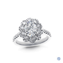 14kt white gold 1.37ct Oval Diamond Engagement Ring