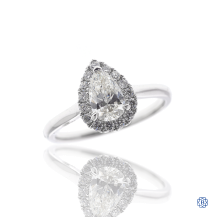 14kt White Gold .63ct. Pear Shaped Engagement Ring