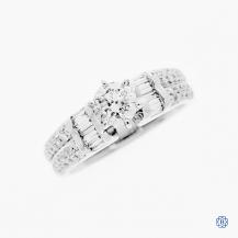 18kt white gold 0.63ct diamond engagement ring