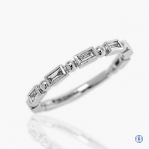 10k Certified Canadian white gold diamond band