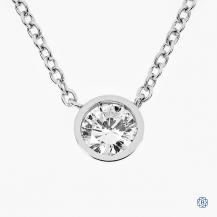 14k white gold 0.48ct diamond necklace
