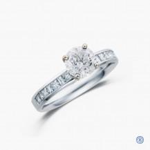 18k white gold 1.00ct diamond engagement ring