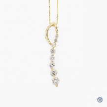 14k yellow gold and diamond pendant with chain