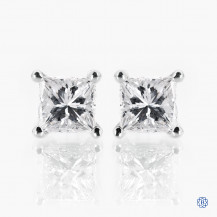 14k white gold 0.59ct diamond stud earrings
