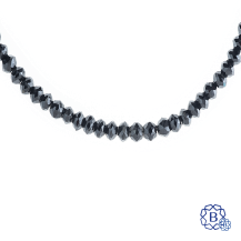 18k white gold and black diamond bead bracelet