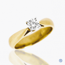 14k yellow and white gold 0.32ct diamond engagement ring