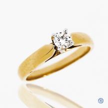 14k yellow and white gold 0.28ct diamond engagement ring