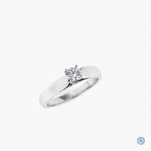 14kt white gold 0.27ct diamond engagement ring