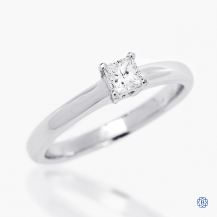 14k white gold 0.25ct diamond solitaire engagement ring