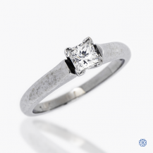 14k white gold 0.34ct diamond solitaire engagement ring