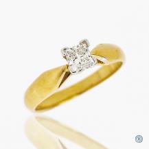 14k yellow and white gold 0.42ct diamond engagement ring