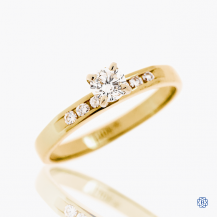 14k yellow and white gold 0.22ct diamond ring