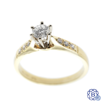 14kt yellow and white gold diamond engagement ring