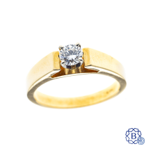 14kt yellow and white gold 0.30ct diamond engagement ring