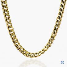 """10k yellow gold, 24"""" curb link chain"""