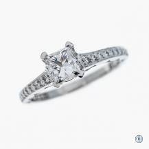 Tacori 18kt White Gold 0.70ct Canadian Diamond Engagement Ring