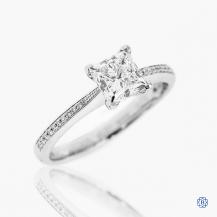 Simon G platinum 1.21ct Maple LEaf diamond engagement ring