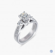 Gabriel & Co. 14k white gold and diamond engagement ring