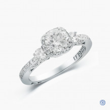 Tacori Dantela 18k white gold 1.00ct diamond engagement ring