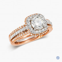 Simon G 18kt white gold and rose gold Canadian diamond engagement ring