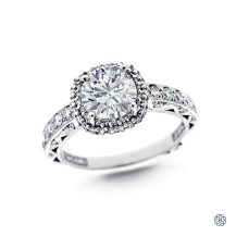Tacori 18kt White Gold 1.37ct Round Diamond Engagement Ring