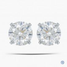 14k White Gold 0.75ct Diamond Stud Earrings