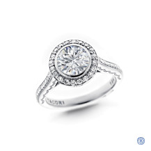 Tacori 18kt White Gold 1.24ct Diamond Engagement Ring