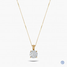 10kt Yellow and White Gold Diamond Pendant with Chain