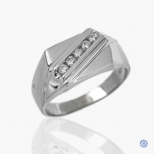 10k white gold and diamond band