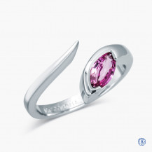 10k White Gold and Pink Sapphire Ring