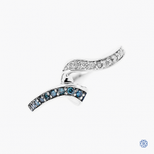 10k white gold blue and white diamond band