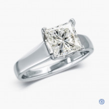 14kt white gold diamond solitaire engagement ring